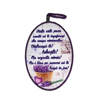 Tablou motivational ceramica oval (13.5x218cm) - Viata ...distreaza-te