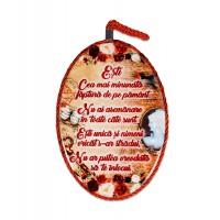 Tablou motivational ceramica oval (13.5x18cm) - Esti cea mai minunata