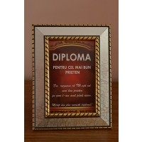 Diploma in rama-Pentru cel mai bun PRIETEN
