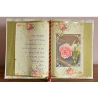 Carte decorativa - Iubirea este durabila... (14x21 cm)