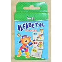 Carti de joc Educative - Invat ALFABETUL cu ilustratii