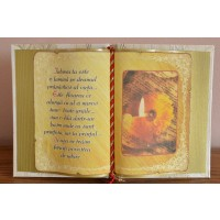 Carte decorativa - Iubirea ta este o lumina... (14x21 cm)
