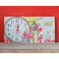 Ceas vintage - Home sweet home (50x27 cm)