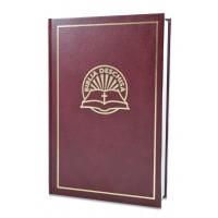 Biblia Deschisa - biblie de studiu, format mare, coperta cartonata, visinie