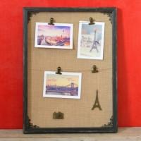 Rama foto tablou - gri inchis 3 poze (32x42x3 cm)