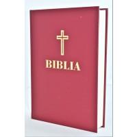 Biblia – ediție omagială 100 de ani de la Marea Unire, cartonata, visinie, marime mare, margini albe (cu aprobarea Sf. Sinod)