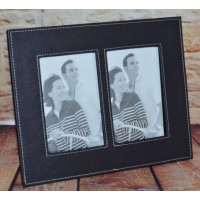 Rama foto - piele neagra (27x22 cm)