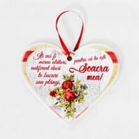 Tablou motivational ceramica inima (19x16cm) - Soacra mea