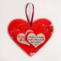 Placheta ceramica - Povestea mea de dragoste ( 19x16 cm )