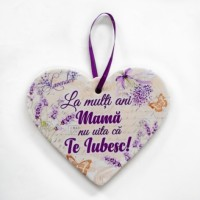 Placheta ceramica - La multi ani mama   ( 19x16 cm )