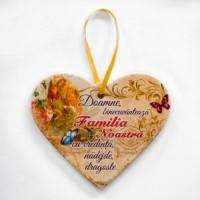 Placheta ceramica - Familia noastra ( 19x16 cm )