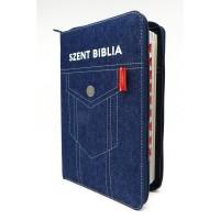 Szent Biblia - Közepes Biblia, Zsebes Farmer, Cipzárral, Regiszterrel, Károli Gáspár Forditása (Biblia medie in lb. maghiara, fermoar, index)