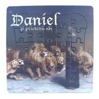 Puzzle biblic - Daniel in groapa cu lei (14x14 cm)