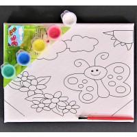 Tablou canvas de pictat - Fluture - Activitati pentru copii (5-7 ani)