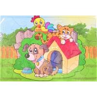 Puzzle - Caine, pisica, cocos - 24 piese - Activitati pentru copii (3+)