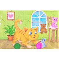 Puzzle, 2 Pisici, 24 piese - Activitati pentru copii (3+)