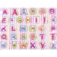 Puzzle din lemn - Alfabetul - Activitati pentru copii (3+)