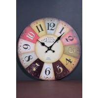 Ceas de perete rotund din lemn - Numere Vintage (34cm)