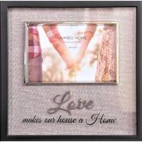 Rama foto, neagra - Love makes our house a Home - 1 poza de 15x10cm