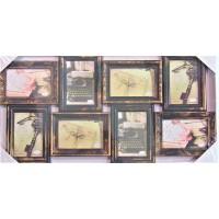 Rama foto, bronz - 8 poze (70x35 cm)