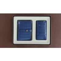 Set cadou femei ( carte vizita + breloc ) -Albastru