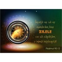 Poster cu verset - Invata-ne sa ne numaram bine zilele ca sa capatam o inima inteleapta