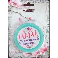 Magnet  Mama te port mereu in inima  ( 7.3x7.3 cm )