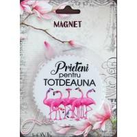 Magnet  Prieteni pentru totdeauna  ( 7.3x7.3 cm )