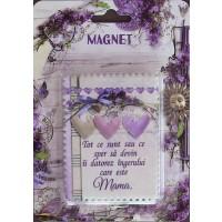 Magnet ceramic - Tot ce sunt...mama  (6x8cm )