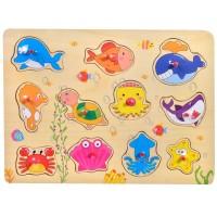 Puzzle din lemn - Animale acvatice - Activitati pentru copii (3+)