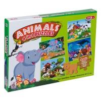 Puzzle 4 in 1 - Animale - Activitati pentru copii (5+)