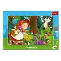 Puzzle - Scufia rosie, 15 piese, Trefl - Activitati pentru copii (3+)