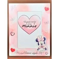 Rama foto din lemn, roz - Minnie style - 1 poza de 10x15cm