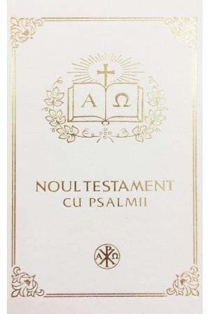 Biblia Ortodoxa - Noul Testament Ortodox cu Psalmii, mica, cartonata, alba, scris mare, margini albe (cu aprobarea Sf. Sinod)