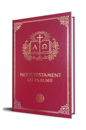 Biblia Ortodoxa - Noul Testament Ortodox cu Psalmii, mica, cartonata, visinie, scris foarte mare, margini albe (cu aprobarea Sf. Sinod)