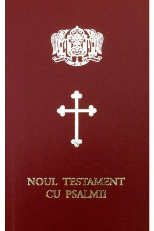 Biblia Ortodoxa - Noul Testament Psalmii  - ed. de buzunar, mica, cartonata, visinie, scris mare, margini albe (cu aprobarea Sf. Sinod)