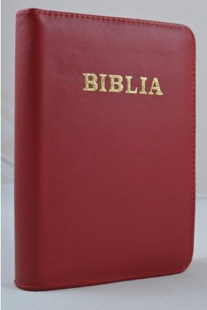 Biblia de studiu pentru o viata deplina, piele rosie, margini argintii, fermoar- versiune pentru copii