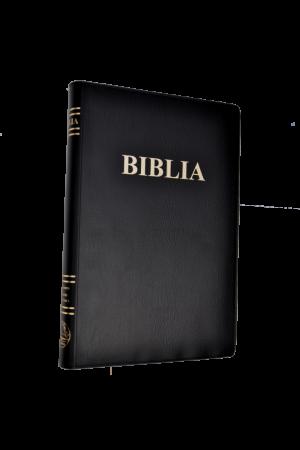 Biblia foarte mare, coperta moale vinil, scris foarte mare, neagra, traducere Cornilescu, cuvintele lui Isus cu rosu [083 CM]
