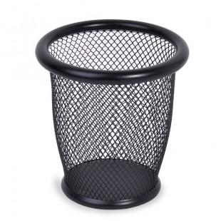 Suport de pixuri din metal - negru (10,5x10 cm)
