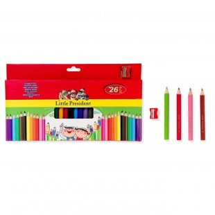 Set Creioane colorate groase, 26 buc. (Rechizite pentru scoala)