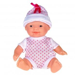Papusa bebe,cu caciula, 13cm - Jucarii pentru copii