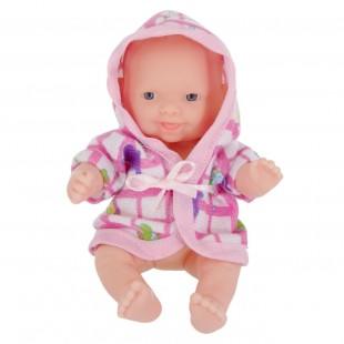 Papusa bebe, halat de baie roz 13cm - Jucarii pentru copii