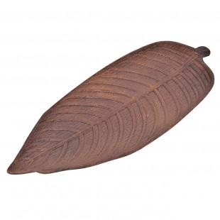 Suport de lemn pentru lumanari in forma de frunza