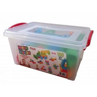 Cuburi de construit din plastic , multicolore