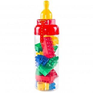 Cuburi de construit din plastic , multicolore, 25 de piese