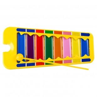 Instrument muzical - Xilofon, galben (Jucarii pentru copii 12M+)