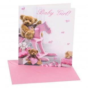 Felicitare mini de ziua de nastere - Baby Girl