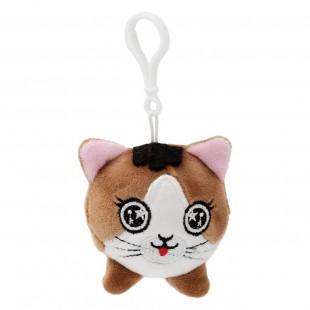 Breloc pisica maro, de pluș ( 7 cm )