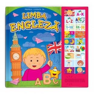 Carte cu sunete. Primele cuvinte in limba engleză - Carte educativă