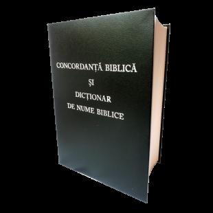 Concordanta biblica si dictionar de nume biblice - coperta cartonata, neagra
